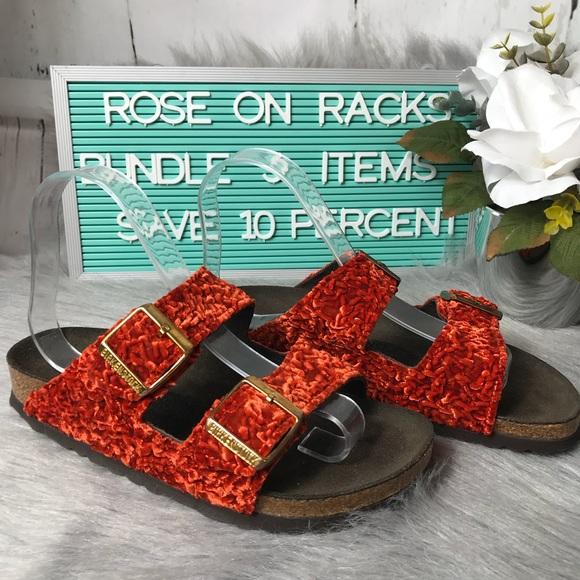 3e669701849 Birkenstock Velvet Persian Orange size 6 A113